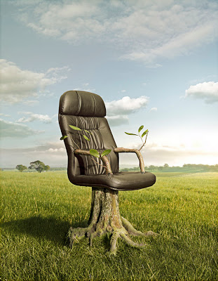 office chair with tree root - creative-photography-18
