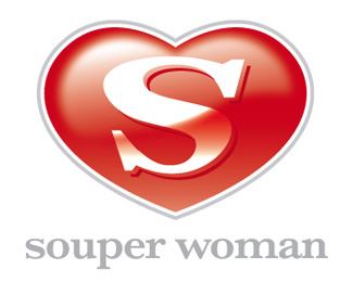 Souper Woman - Heart Logo Designs