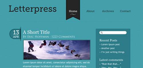 Elegant and Simple Blog Web Layout