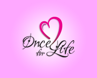 Once for Life - Heart Inspired Logo