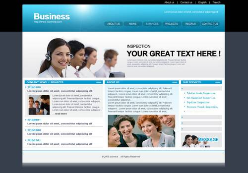 Blue Business web template