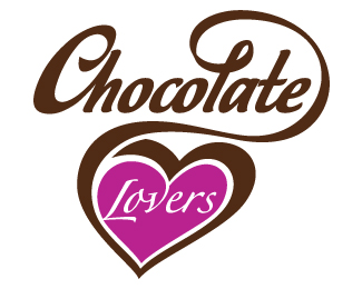 Chocolate Lovers - Heart Logo design