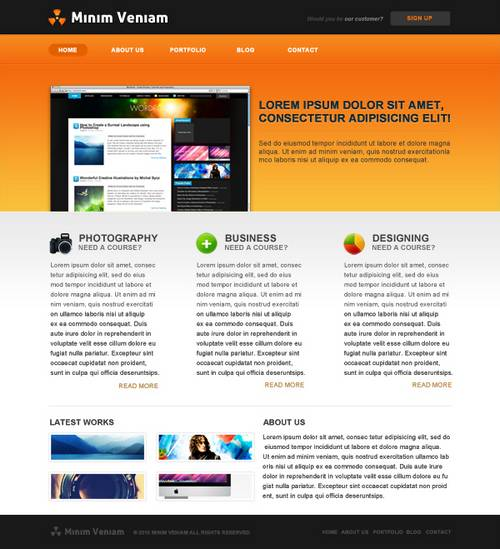 New, Fresh and Free PSD Web Layout