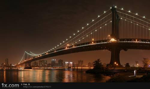 The 2 lovers under Manhattan Bridge © Fabien BRAVIN