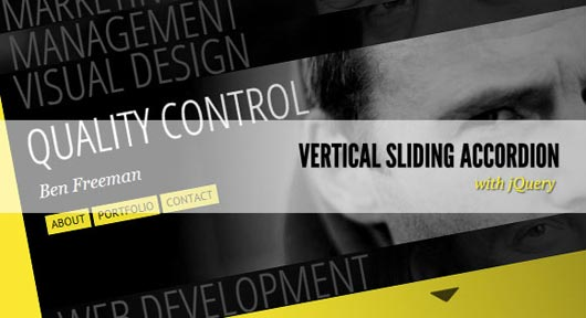Vertical Sliding Accordion with jQuery