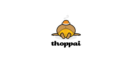 Thoppai Food Inspired Logo Design