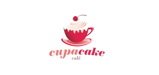Cupa Cake Cafe logo design