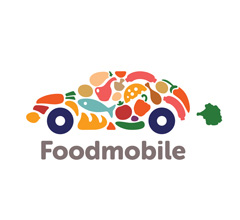 Foodmobile Food Inspired Logo Design