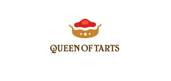 Queen of Tarts food logo