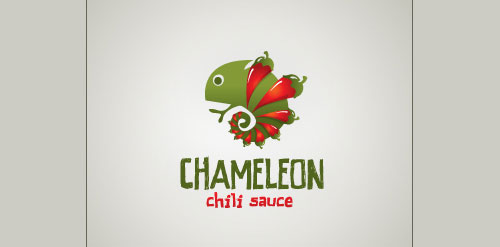 Chameleon chili sauce Inspired Logo Design