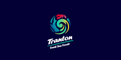 Tranton Sea Food Logo Design