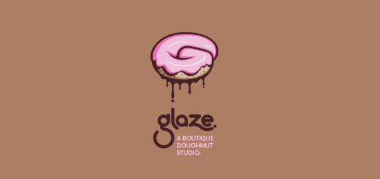 glaze Food Inspired Logo Design