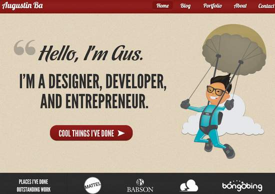 30 Beautiful One Page Websites For Inspiration