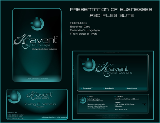 Present. of Businesses Suite free business card template