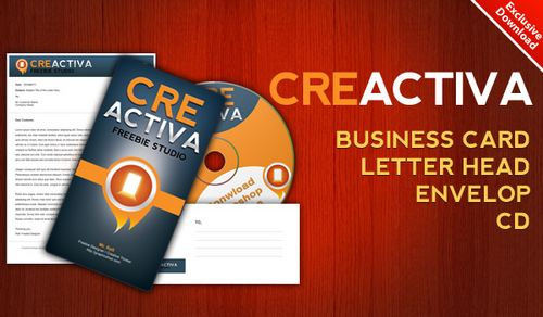 Download Business card, letterhead, envelope, CD label .PSD files free business card template