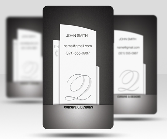 Free Business Card PSD v5 free business card template