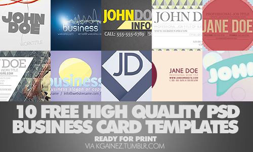 FREE Business Card Template free business card template