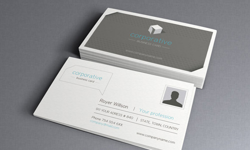 Corporate Business Card free business card template