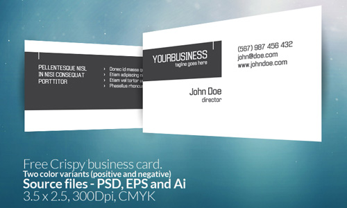 Crispy business card free business card template