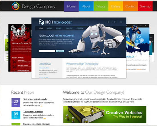 Design Company Website - HTML5 And CSS3 Templates