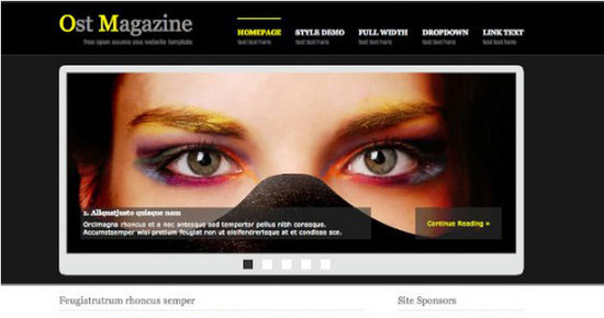 Ost Magazine Open Source CSS Template - HTML5 And CSS3 Templates