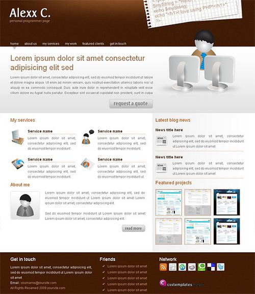 Alexx C - HTML5 And CSS3 Templates