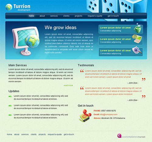 Turrion - HTML5 And CSS3 Templates