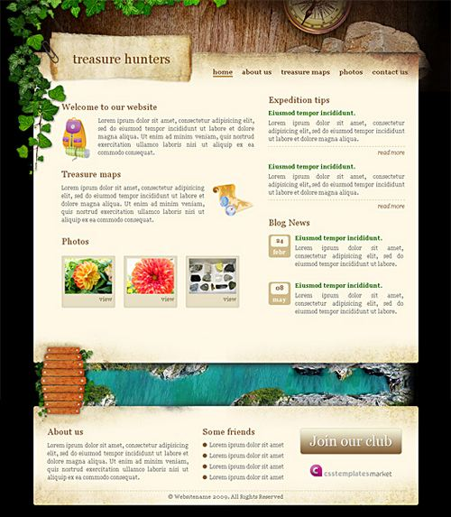 Treasure Hunters - HTML5 And CSS3 Templates