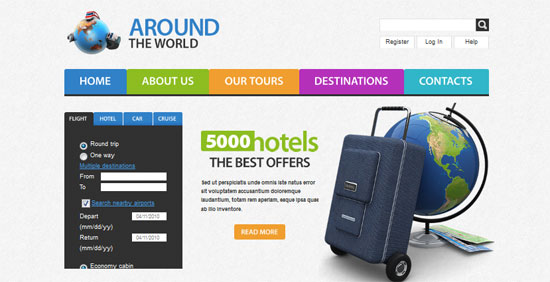 Travel Website Template - HTML5 And CSS3 Templates