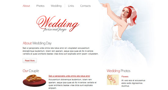 Wedding Website Template - HTML5 And CSS3 Templates