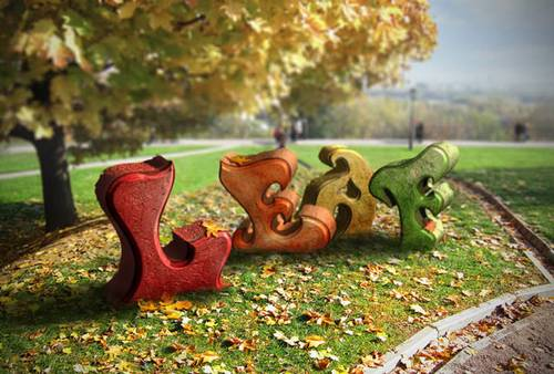 Create an Autumn-Themed 3D Text Effect With Photoshop CS6 Extended