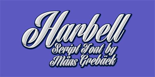 Harbell Personal Use Only font
