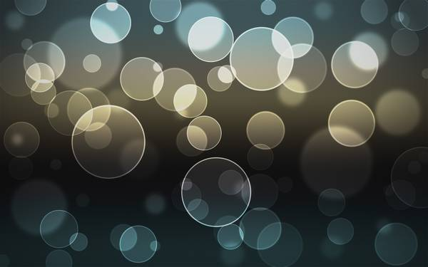 lights bubbles bokeh - Wallpaper