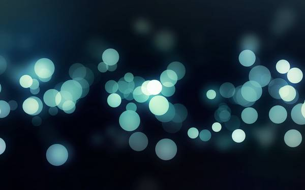 blue minimalistic lights bokeh - Wallpaper