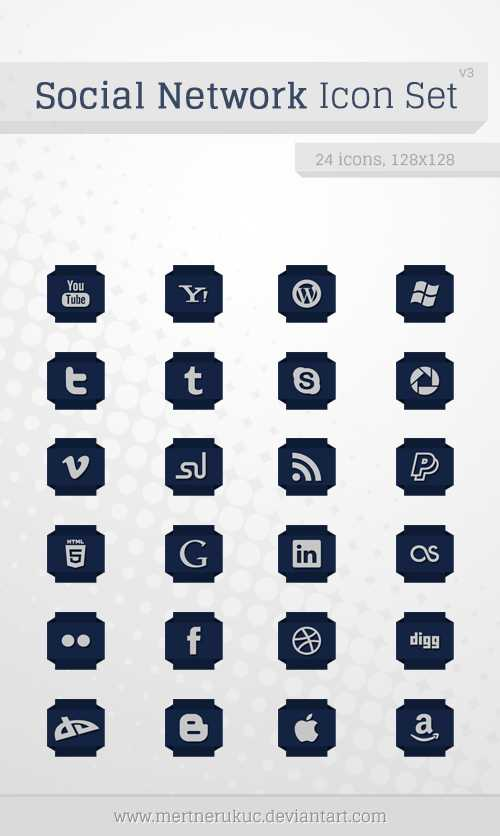 socialmedia iconset