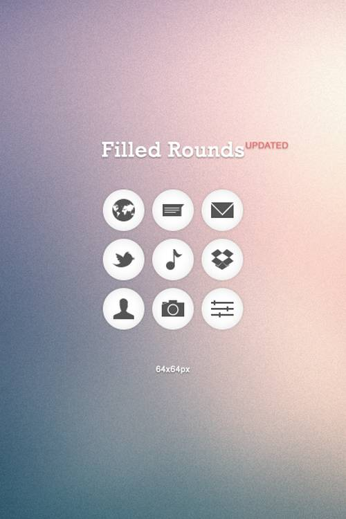 Filled Rounds Icons