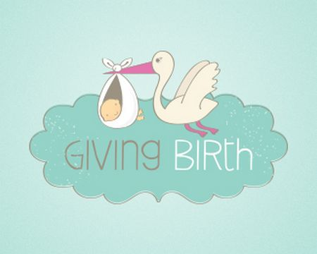 baby logo : Giving Birth by OneGiraphe