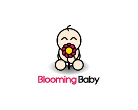 baby logo : Blooming Baby by Logomania