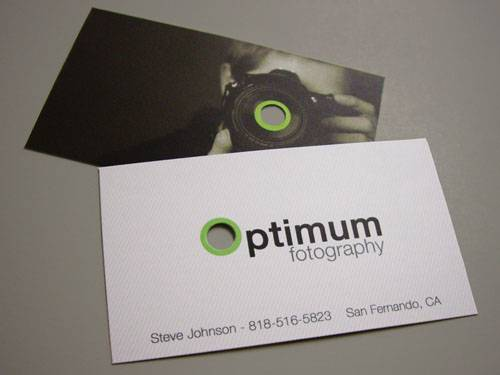 Optimum Photography Business Cards