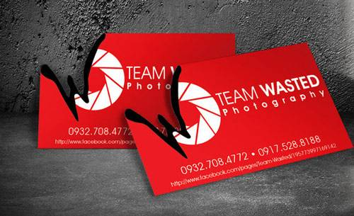 Team Wasted Business Card