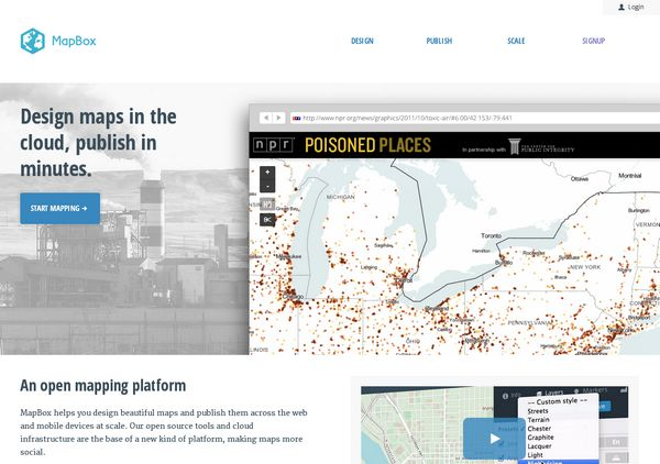 Homepage Slider from MapBox