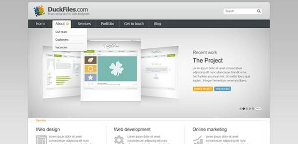 Corporate + Portfolio Website Template (Free PSD)
