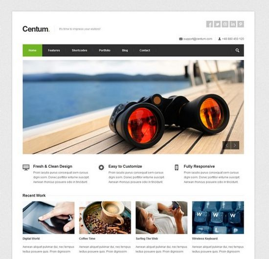 wordpress theme slider