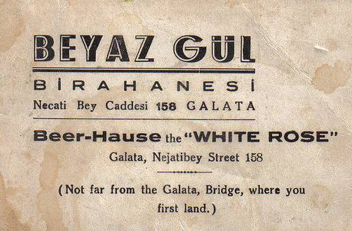 Vintage Business Card Beyaz Gul Turkey