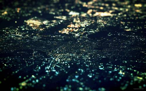 skylines  tilt-shift  citylights