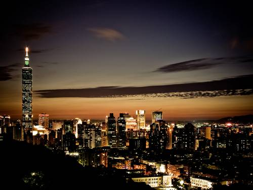 night  Taipei 101  cities