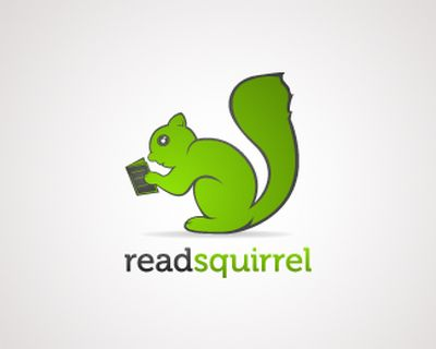 Education Logo : read squirrel
