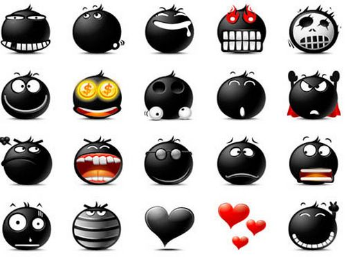 Popo Emoticons - The Blacy BY Rokey