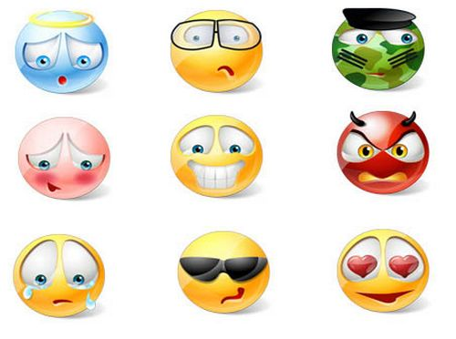 Vista Style Emoticons Icons BY icons-land