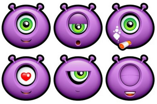 Iconset: Purple Monsters Icons by Deleket (26 icons)